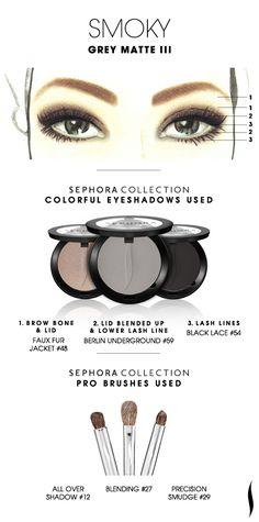 SMOKY: Grey Matte 3 HOW TO. #sephoracollection #sephora #makeup #eyeshadow