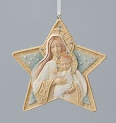 Artist Karen Hahn conveys inspirational messages through Foundations for Enesco presented by Fiddlesticks Madonna Art, Nativity Ornaments, Christmas Tree, Christmas Ornaments, Reyes, Les Oeuvres, Foundation, Presents, Holiday Decor