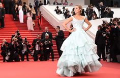 Blake Lively wears Vivienne Westwood couture at a screening for 'Ma Loute (Slack Bay).' Photo: ANNE-CHRISTINE POUJOULAT/Getty Images