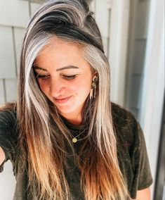 Grey Hair Inspiration, Transition To Gray Hair, Going Gray, 50 Shades Of Grey, Silver Hair, Salt And Pepper, Hair Color, Hair Beauty, Dreadlocks