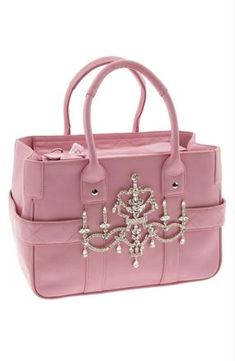 She loves the color. Me not so much ---Pink Crown Purse ♥ Pink Friday -❤✿ڿڰۣ( ✯nyrockphotogirl ✯✯Vintage-. Pink Handbags, Purses And Handbags, Leather Handbags, Perfect Pink, Pink Love, Beautiful Handbags, Beautiful Bags, Pink Fashion, Fashion Bags