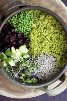Broccoli and Millet Salad (Vegan, Gluten-free). Raw Food Recipes, Salad Recipes, Cooking Recipes, Healthy Recipes, Healthy Salads, Healthy Eating, Vegan Vegetarian, Vegetarian Recipes, Millet Recipes
