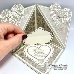 Nigezza Creates with Stampin' Up! Many Hearts Dies & Love You Always DSP Mini Album Tutorial, Bone Folder, Fun Fold Cards, Easel Cards, Glue Dots, Love You, My Love, Create Image, Mini Albums
