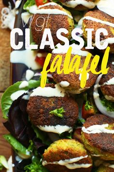 PERFECT 10-ingredient Classic Vegan Falafel! Crispy, tender, SO flavorful! #vegan #glutenfree #falafel #recipe #minimalistbaker
