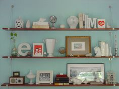 Container Store Cable Shelf Brackets in Jamie Meares's house (i suwannee blog)