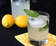 Vodka and Basil Spiked Sugar-Free Lemonade. A grown-up, refreshing summer beverage recipe
