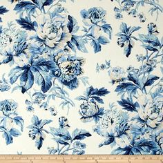 Screen printed on a cotton/linen blend this medium/heavyweight fabric is very versatile. This fabric is perfect for window treatments (draperies, valances, curtains, and swags), pillow shams, duvet covers, toss pillows, slipcovers and upholstery. Colors include shades of blue, tan and ivory.