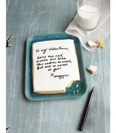 The only thing better than a home-baked sugar cookie? One that doubles as a love letter.