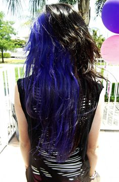 blue and black hair.