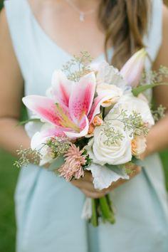 Tropical beachy bouquet: http://www.stylemepretty.com/california-weddings/2015/11/21/chic-coastal-same-sex-wedding-in-southern-california/ | Photography: Heidi-o-Photo - www.heidiophoto.com
