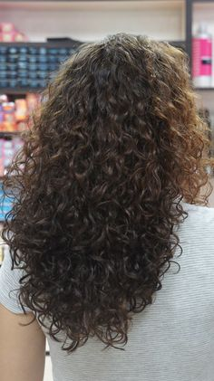 gorgeous perm in long hair - back