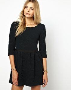 Textured Wool Mini Dress