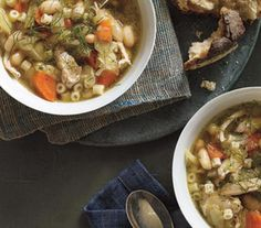 Chicken, Fennel and White Bean Soup (slow cooker) | Real Simple