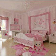 Cute Little Hello Kitty Room For Little Girls