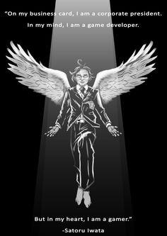 Satoru Iwata Tribute by AvansaArt.deviantart.com on @DeviantArt