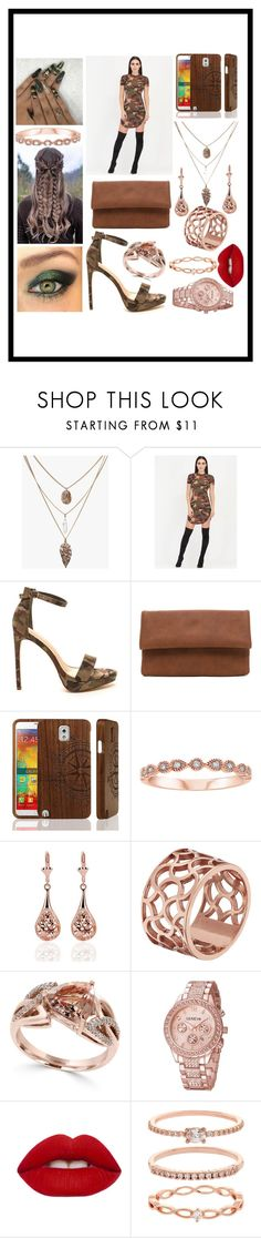 """""""I fell in love with camo!"""" by sodenoshirayuki-kuran ❤ liked on Polyvore featuring Samsung, Tartesia, Effy Jewelry, Shibuya, Lime Crime and Accessorize"""