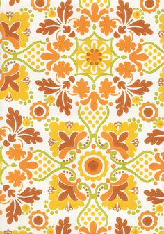 I've been planning to put this in the small mini hall between the porch and the kitchen in the farm house. Vadelma (Raspberry) from Tapettitalo. Textures Patterns, Fabric Patterns, Color Patterns, Vintage Prints, Retro Vintage, Art Nouveau, Art Deco, Polish Folk Art, Floor Ceiling
