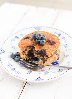 Beautiful vegan millet and blueberry pancakes. I will not be deterred from picking blueberries this summer!