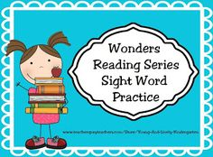 ~FREE~ Sight Word Practice for McGraw Hill Wonders