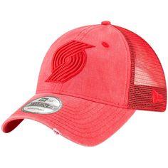 8545d56096b Men s Portland Trail Blazers New Era Red Tonal Washed Trucker 9TWENTY  Adjustable Snapback Hat