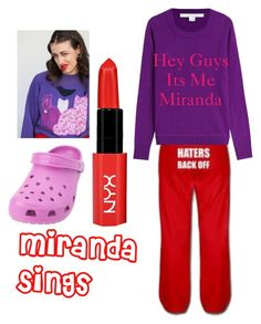 """""""Halloween Costume 32 ( Miranda Sings)"""" by selena-gomezlover ❤ liked on Polyvore featuring Diane Von Furstenberg and Crocs"""