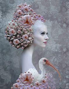 사진: Surrealist Fashion by Tina Cassati Foto Fantasy, Fantasy Art, Art Du Collage, Foto Art, Arte Floral, Pics Art, Hair Art, Art World, Oeuvre D'art