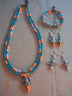 Agnysse - Green Orange beads angels set -1 (Taken by my niece - Natalie Ng)