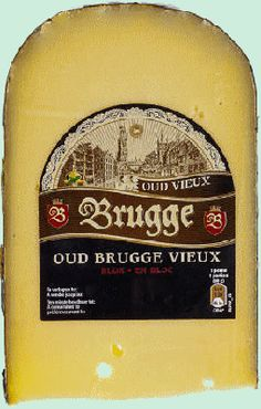 BRUGGE vieux gouda belge bloc ±450grBRUGGE old Belgian creamy gouda and tasty block matured for 8-9 months. Excellent as an aperitif or a cheese board. Absolute fat content: 33% www.chockies.net