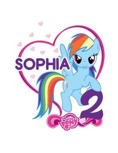Mi pequeño pony para imprimir hierro en por PartyDesignsDIY en Etsy
