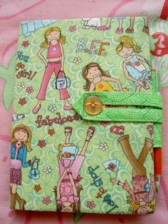 Journal cover: Instructions etc. are available in an eBook for $5.00 from Mary's Etsy shop, Simple Things. Why not come to her blog, see the other photos of the journal cover, then hop to her Etsy shop from there? #sewing #journal cover #craft