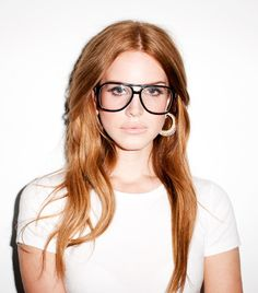Lana Del Rey is pure perfection, rocking those Terry Richardson glasses!