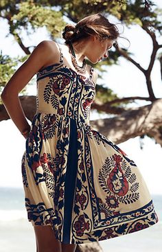 Beautifully Embroidered Fit-and-Flare