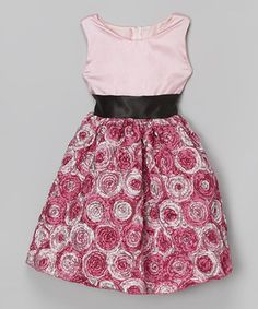 Look what I found on #zulily! Pink Soutache A-Line Dress - Infant, Toddler & Girls by Kid Fashion #zulilyfinds