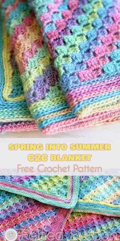 Spring And Summer Crochet Patterns Spring Into Summer Ba Blanket Free Crochet Pattern Your Spring And Summer Crochet Patterns Crochet Finds Pretty Tops For Spring And Summer Charity. Spring And Summer Crochet Patterns Crochet Girl Dress Patt. Crochet C2c, Crochet Motifs, Afghan Crochet Patterns, Baby Blanket Crochet, Crochet Crafts, Crochet Stitches, Free Crochet, Crochet Projects, Knitting Patterns