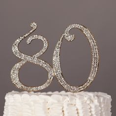 80 Cake Topper - Gold