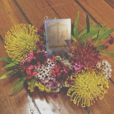 @Jess Wilmot had an idea for a floral business card holder, so I made it! #flowers #floral #design #australiannatives
