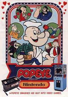 "Retro Domination on Twitter: ""Flyer Of The Day: Popeye (Nintendo, 1982)…"