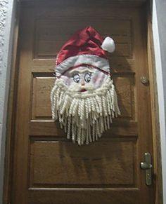 Enfeite de porta Papai Noel, de Eunice Silva
