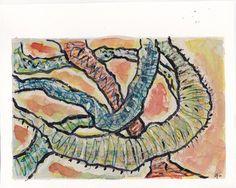 "James Feely, ""Entrails"" - mixed media, 9.5"" x 7.5"" on ArtStack #james-feely #art"
