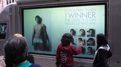 Calvin Klein hired SA Screen Media to execute the world's first outdoor mobile interactive advertising campaign. Touch Screen technology was utilised to allow members of the public to vote in Calvin Klein's 9 Countries 9 Med modelling competition.