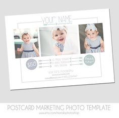 CLEARANCE - Photography Postcard Mini Session Flyer - Marketing Template - 5x7 - Mini Sessions - Summer, Spring - Family, Children, Babies