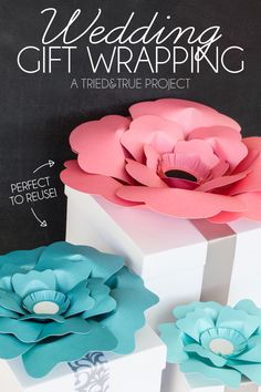 Use these gorgeous Big Bloom flowers from Michaels for the best wedding gift wrapping ever!