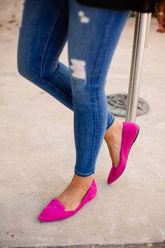 Pink Flats (a must for fall!)