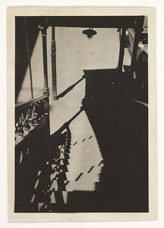 [Staircase, New York], Berenice Abbott photographer, Berenice Abbott, City Architecture, Interesting History, History Facts, Graphic, New York, Black And White, Photography, Metropolitan Museum