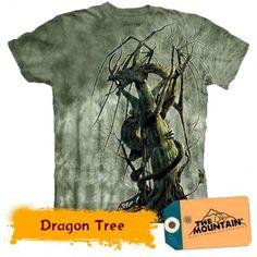 Tricouri The Mountain – Tricou Dragon Tree Mens Tee Shirts, T Shirt, Dragon Tree, Comic Books, Mountain, Dragons, 3d, Tee, Kite