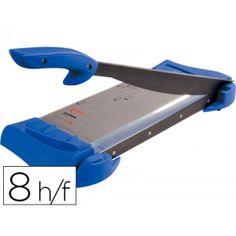 Guillotina de plastico/metal con empuñadura ergonomica y muy suave, corta hasta Din A4, capacidad de corte de 8 hojas y longitud de corte 320 mm. Medidas: 600 x 200 mm.