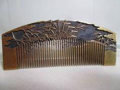 The comb _ image 1 of gold Makie of Akikusa diagram antique book tortoiseshell Kasumi