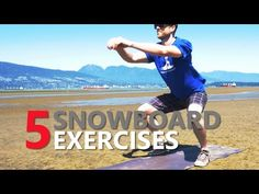 Exercise For Beginners 5 Snowboard Exercises for Beginner Training - SnowboardProCamp - Snowboarding Exercises, Snowboarding For Beginners, Fun Winter Activities, Winter Hiking, Plein Air, Skiing, Bodybuilding, Degree Angle, Weights