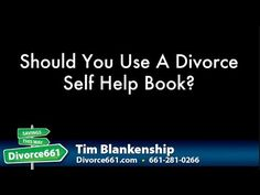 Should You Use A Divorce Self Help Book  This video is about divorce self help book and if it is a good idea to use a divorce self help book to complete your divorce in California.