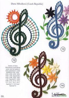 Crochet Motif Patterns, Bobbin Lace Patterns, Form Crochet, Crochet Lace, Bobbin Lacemaking, Point Lace, Lace Jewelry, Lace Making, Lace Knitting